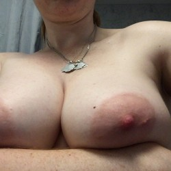 Very large tits of my wife - Marlene