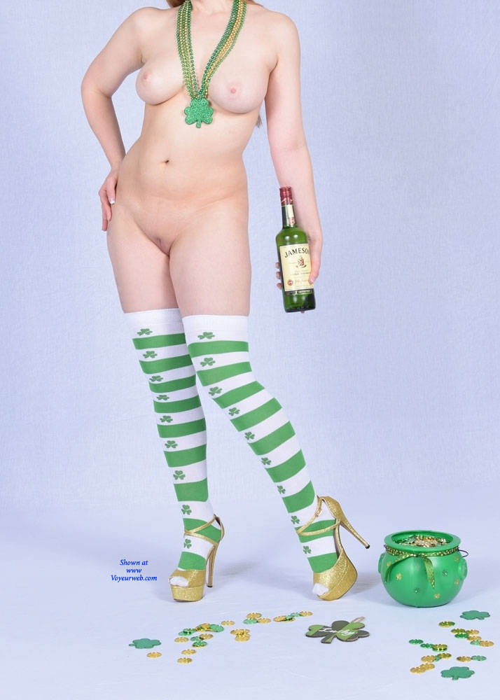 Pic #1St. Patrick's Day Temptation - Nude Wives, Big Tits, High Heels Amateurs, Shaved, Firm Ass, Stockings Pics