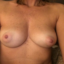 Medium tits of my girlfriend - PB Puffies