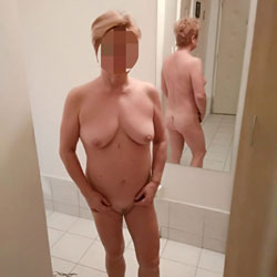 At The Mirror - Nude Wives, Big Tits, Amateur