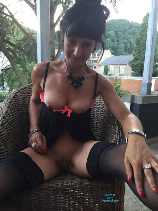 Pic #1My Friend Sylvia - Brunette, Lingerie, Outdoors, Shaved, Amateur