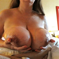 Extremely large tits of my wife - Jill Juggs