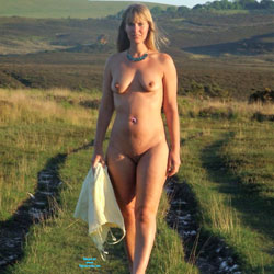 Walking Naked In Spring Sun