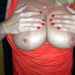 Very large tits of my wife - Janis