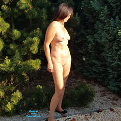 First Time - Nude Girls, Brunette, Outdoors, Amateur