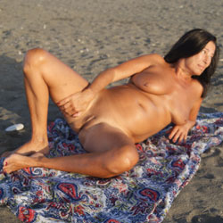The Beach Is My Life - Nude Amateurs, Beach, Big Tits, Brunette, Outdoors, Shaved