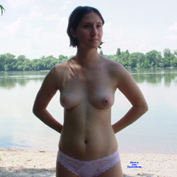Beach - Topless Girls, Beach, Brunette, Outdoors, Amateur, European And/or Ethnic