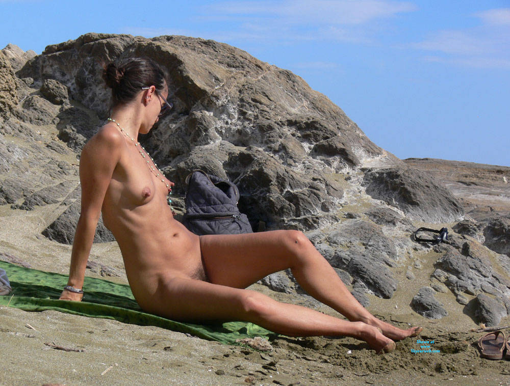 Pic #1Nice Big Nipples  - Nude Girls, Beach, Brunette, Outdoors, Bush Or Hairy, Beach Voyeur, Big Nipples