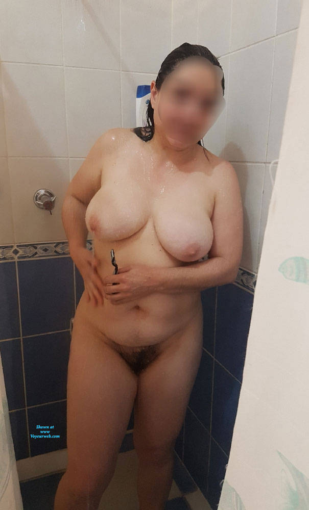 Pic #1 Shower Goddess Part 2 - Big Tits, Brunette, Bush Or Hairy, Amateur