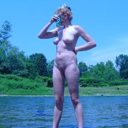 Sunbathing On The River - Nude Girls, Beach, Big Tits, Outdoors, Amateur