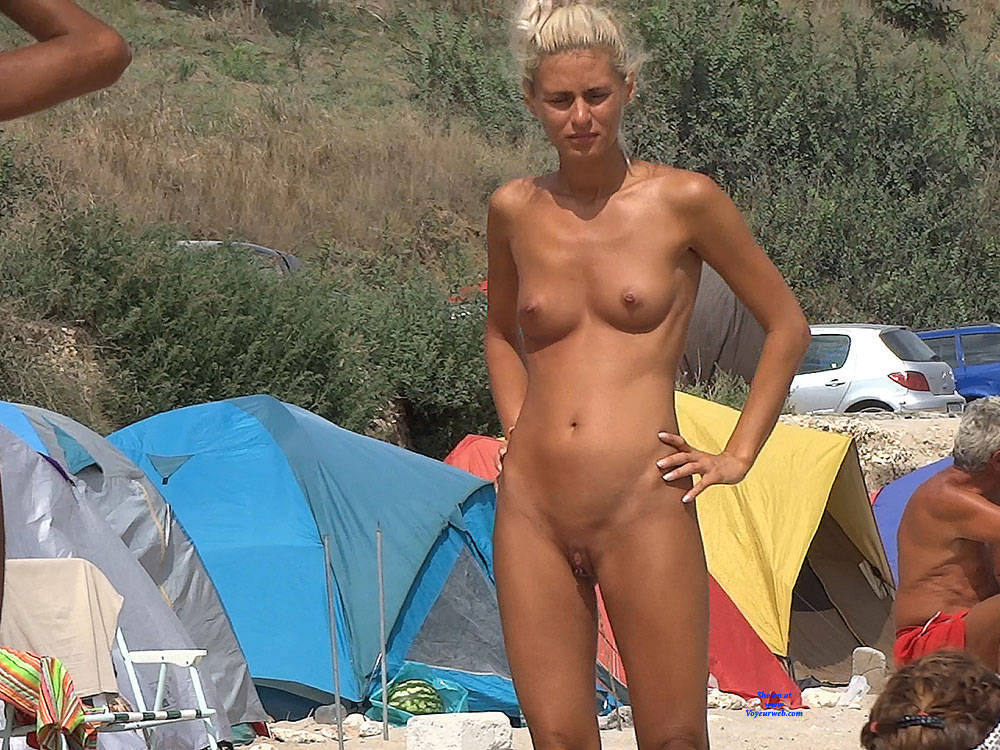 Pic #1Camping Girl - Nude Girls, Blonde, Outdoors, Shaved