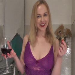Wine BJ And Cum In Mouth