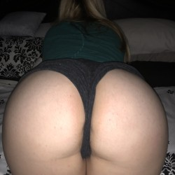 My wife's ass - My thicke blonde wife