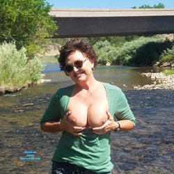 Wading In Rivers - Big Tits, Brunette, Outdoors, Amateur