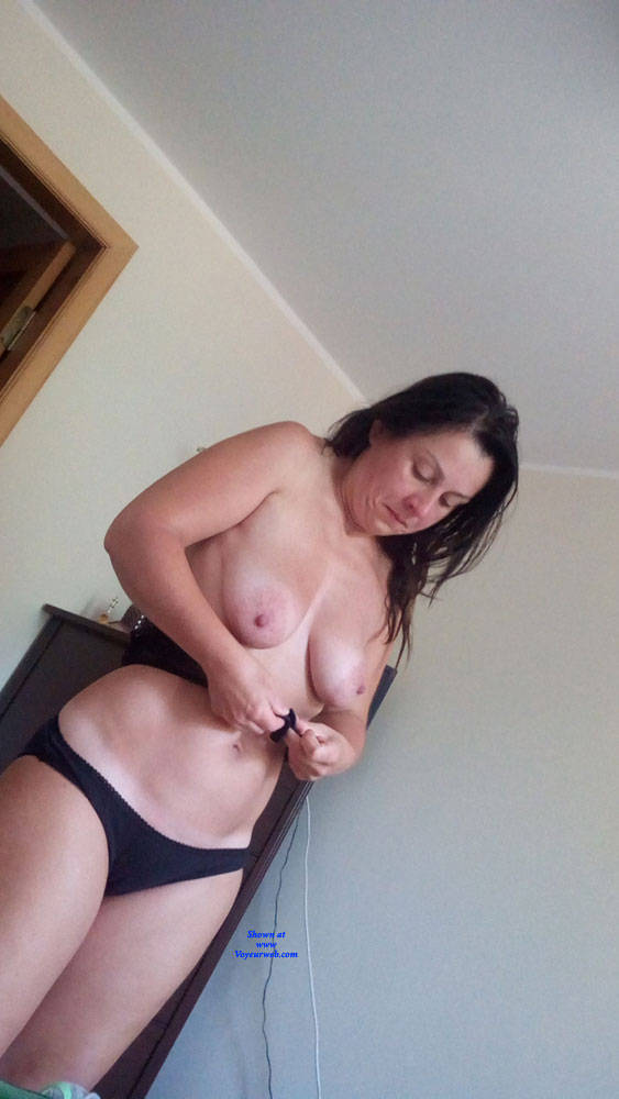 Pic #1 Dressing - Topless Wives, Big Tits, Brunette, Amateur