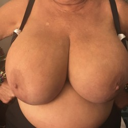 Very large tits of my wife - Angie