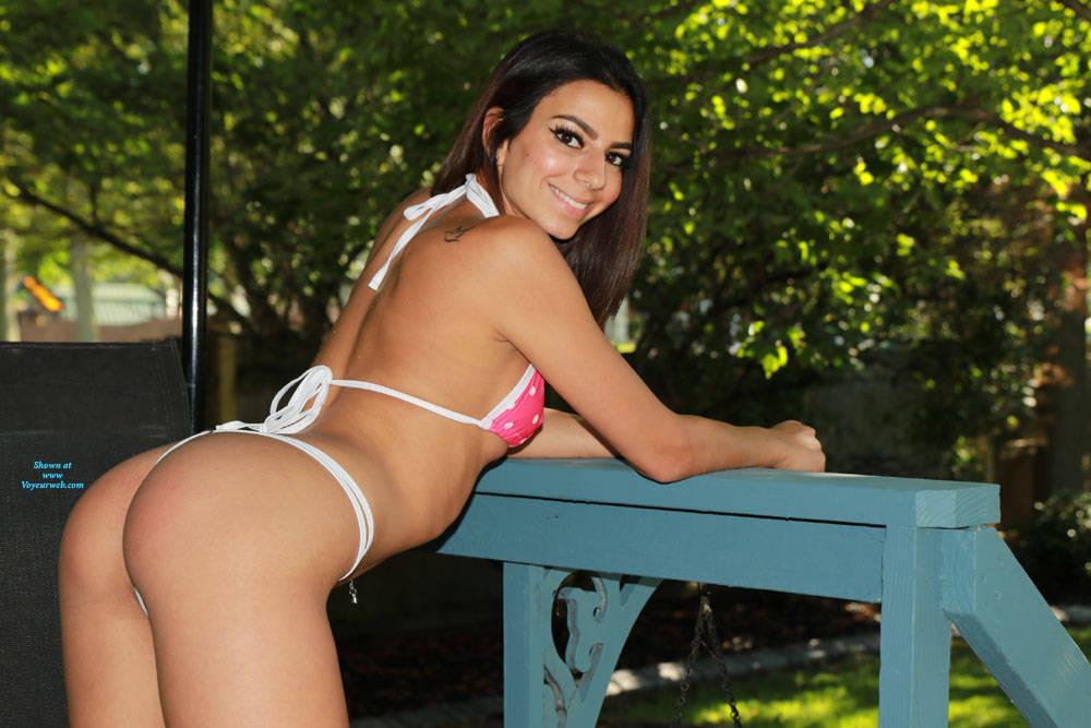 Pic #1Sierra In The Backyard - Brunette, Outdoors, Amateur