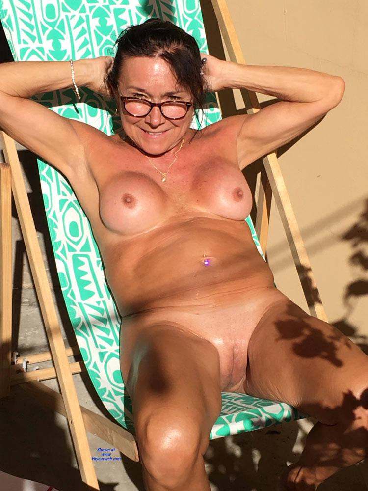 Back in the barnyard nude