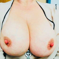 Medium tits of my wife - Cary...