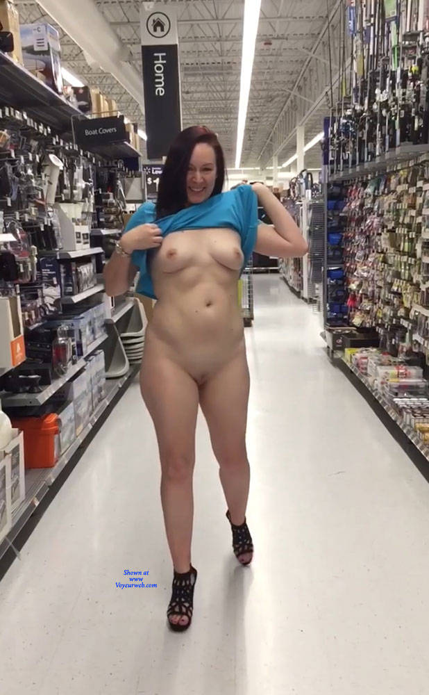Pic #1Shopping Can Be Fun - Brunette, Public Exhibitionist, Flashing, High Heels Amateurs, Public Place, Wife/wives, Shaved
