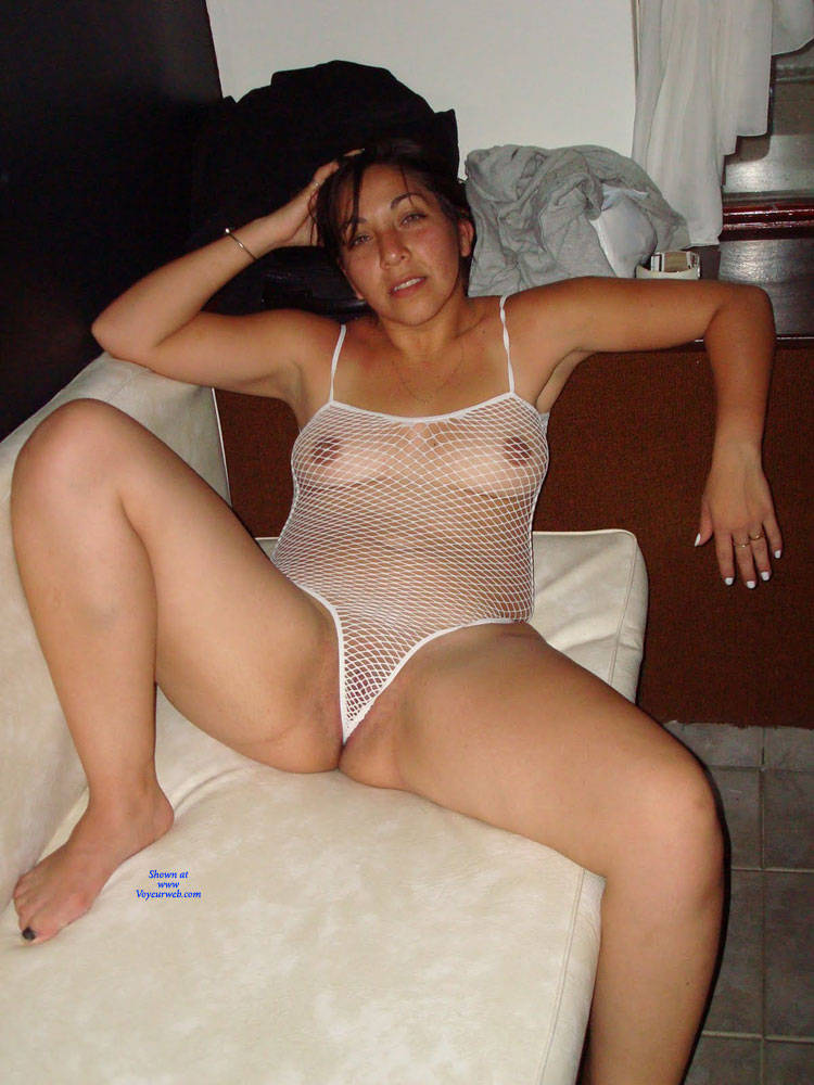 Pic #1 Net - Brunette, Lingerie, See Through, Amateur