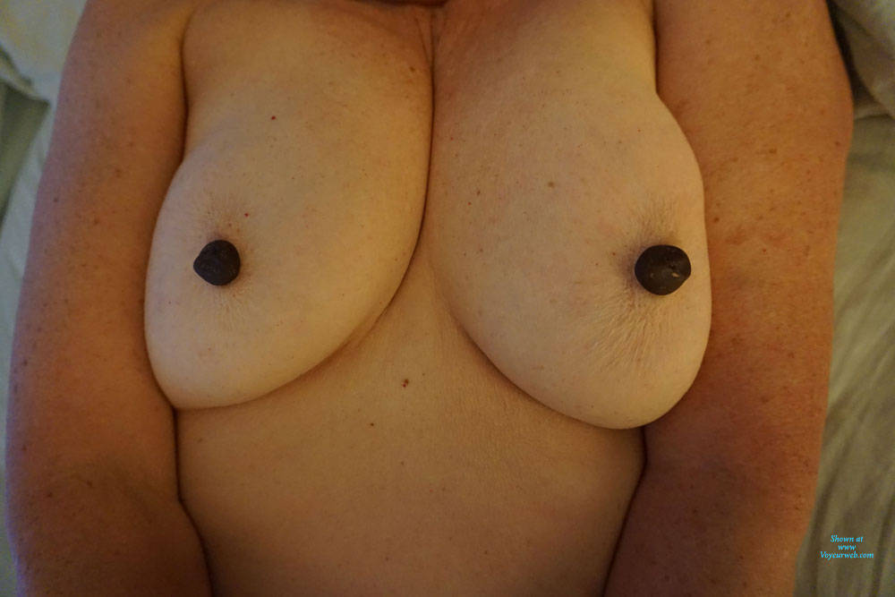 Pic #1 Playing With My Tits - Big Tits, Amateur