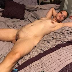 Sexy Wife - Nude Wives, Brunette, Amateur, Tattoos, Legs Spread Wide Open