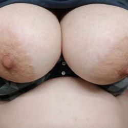 Very large tits of my girlfriend - Grace