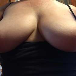 My nude wifes medium tits and belly