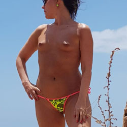 Topless On The Beach - Topless Girls, Beach, Outdoors, Small Tits, Amateur