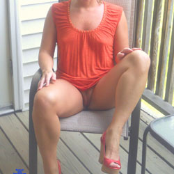 Nice Afternoon On The Balcony - Pantieless Wives, Outdoors, Amateur