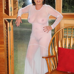 Tight Sheer Winter White - Big Tits, Mature, See Through, Amateur