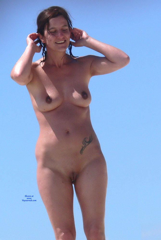 Pic #1Canary Islands - Nude Girls, Beach, Big Tits, Brunette, Outdoors, Shaved, Beach Voyeur, Tattoos
