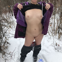 A Cold Day - Outdoors, Wife/wives, Shaved, Nature, Amateur