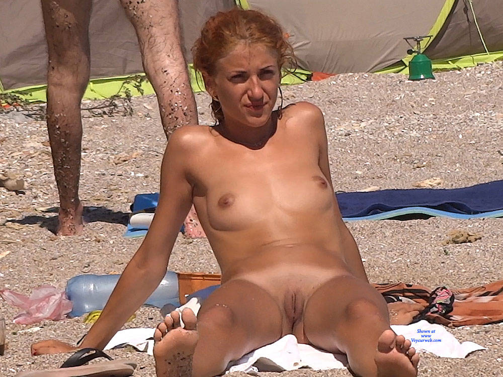 Pic #1Red Haired Again - Nude Girls, Beach, Outdoors, Redhead, Shaved, Beach Voyeur