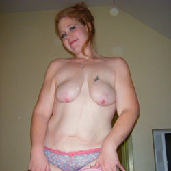 Redhead Sucking Dick - Big Tits, Redhead, Amateur, Gf, Body Piercings, Tattoos