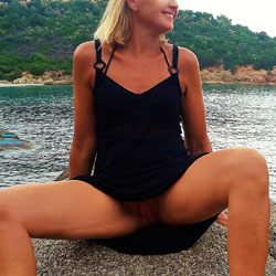 No Panties Beachwalk - Beach, Blonde, Outdoors, Amateur