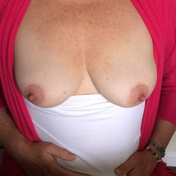 Medium tits of my wife - Sadwife