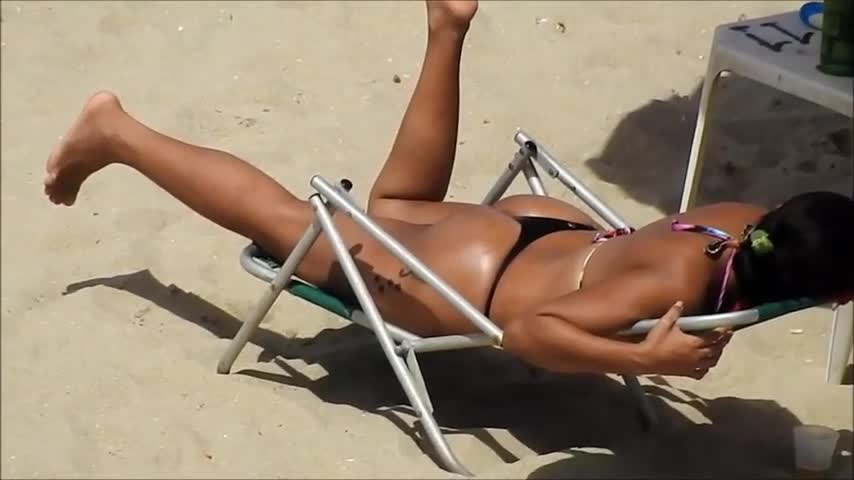 Pic #1On The Beach - Beach, Brunette, Outdoors, Bikini Voyeur