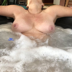 Enjoying The Hot Tub - Nude Wives, Big Tits, Mature, Outdoors, Amateur