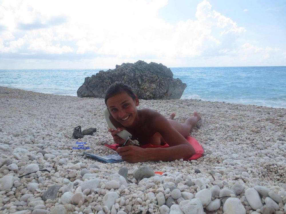 Pic #1 Lefkada - Nude Girls, Beach, Brunette, Outdoors, Amateur