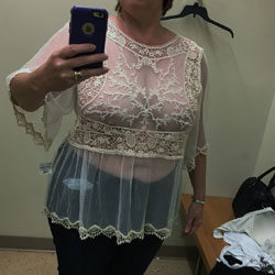 Changing Room Selfies - Topless Wives, Big Tits, See Through, Amateur