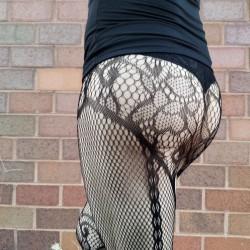 My ass - Kerri in net stocking