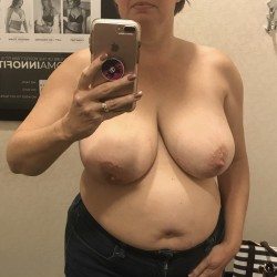 Very large tits of my wife - Sexy wife.