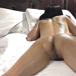 My wife's ass - Aey - Oiled up Asian wife