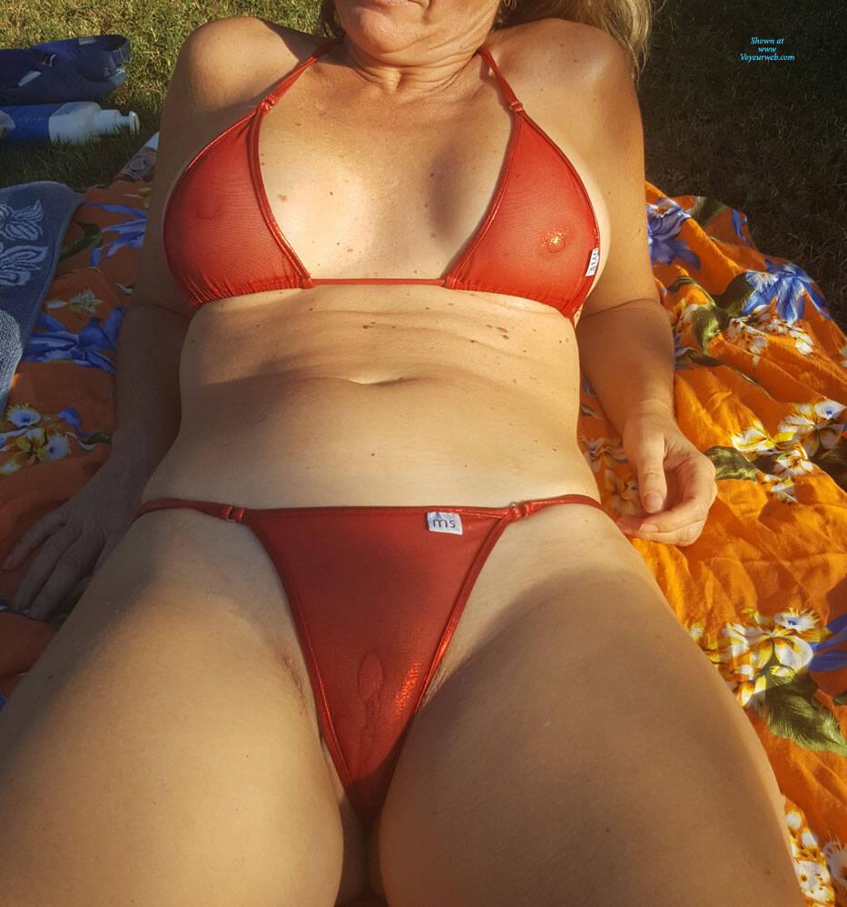 Outdoor bikini amateur voyeur