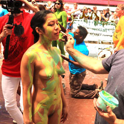 Body Painting Times Square Part 1