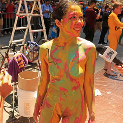 Body Painting Times Square Part 2