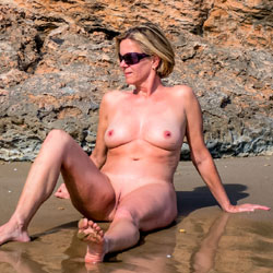 Beach Nudist And Exhibitionist