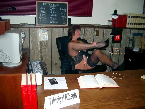 Girl Sitting On A Chair - Erotic Pose, Stockings , Girl Sitting On A Chair, Porn Secretary, Erotic Pose, Bored Secretary, Blöack Stockings, Office Sex